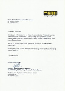 Referencje Western Union